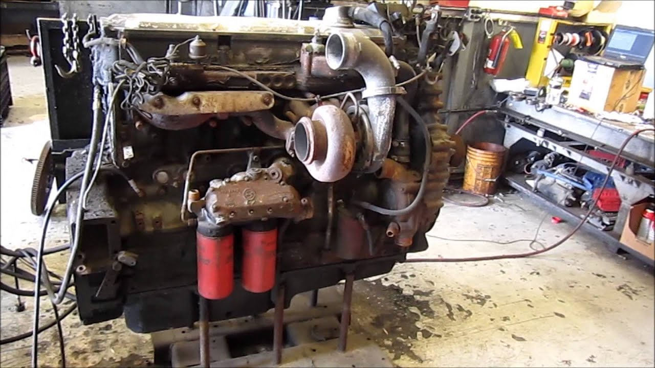 Detroit 60 Series >> 1997 Detroit Diesel Series 60 Ddec Iv 12 7l Engine Running