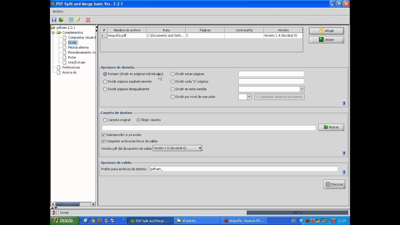 PDF, cómo separar las páginas y guardar sólo una parte.avi - YouTube