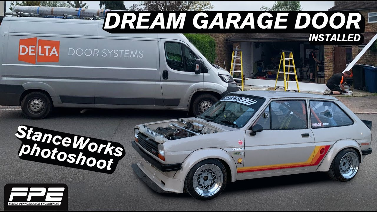 Ultimate GARAGE DOOR installed and photoshoot for STANCEWORKS