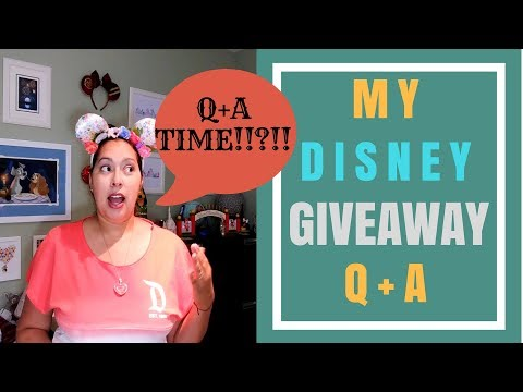 Disney Q+A - Part 1 of 2! Your Giveaway Questions Answered | Let's Chit Chat! | May 2018