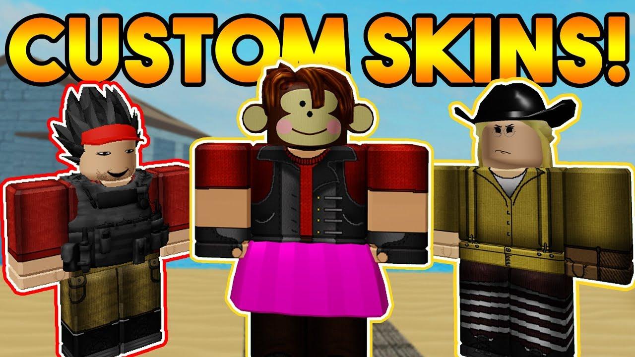 Making My Own Custom Arsenal Skin Roblox Youtube