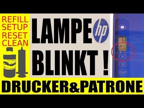 HP Drucker !!! Defekte Patrone ( Fehlermeldung ) beheben + Blinkende Lampe  umgehen