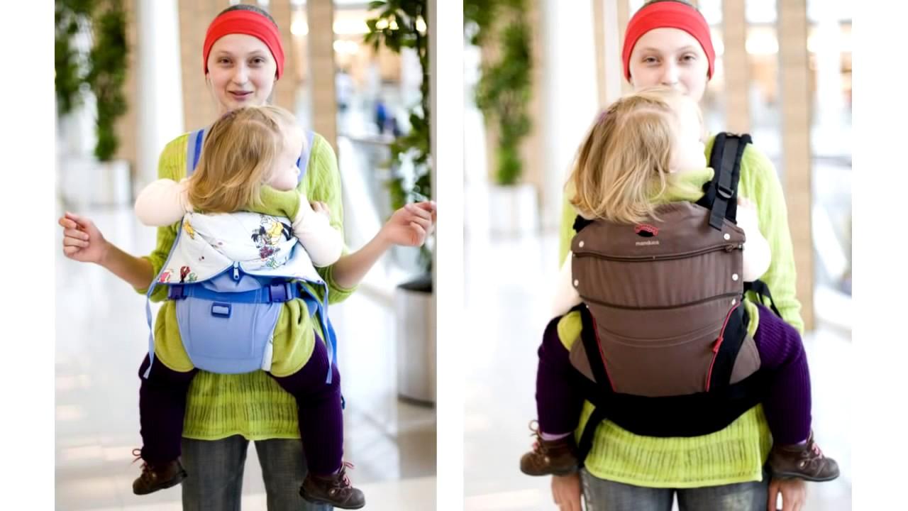 Рюкзак Ergo Baby Carrier со вставкой для новорожденного - YouTube
