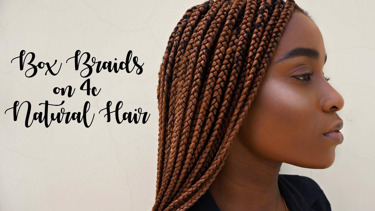 4 Box Braids Done At The Salon 4c Natural Hair Youtube Natural Hair Box Braids Natural Hair Styles 4c Natural Hair