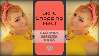 Sicily Shopping haul ❤ CLOTHES|SHOES|BAGS + FIREWORKS & Sophie ! - Smashing Darling x