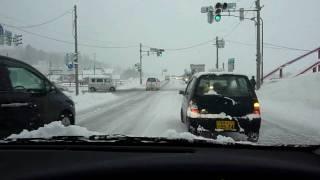 大雪警報発令中 長野県飯山市