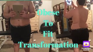 Fat to Fit Body Transformation 115 Pound Weight loss - 16-17 Years Old