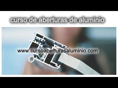 Curso de carpinteria en aluminio aprende como hacer puerta - Tipos de perfiles de aluminio ...