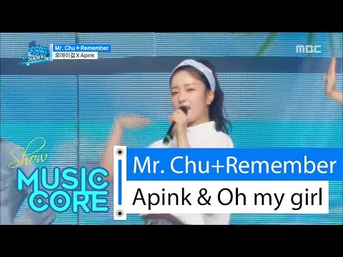 [Special stage] Apink&OH MY GIRL-Mr.chu +Remember, 오마이걸X에이핑크-미스터츄+리멤버 Show Music core 20160416