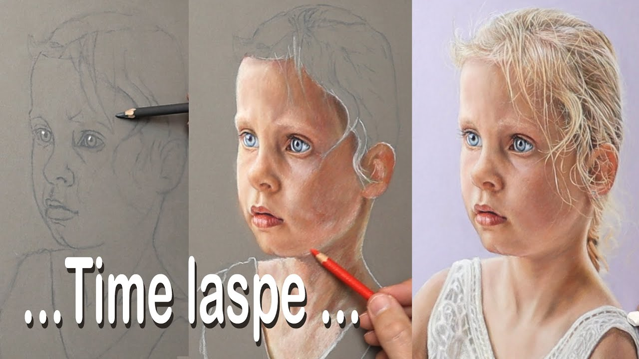 Pastel portrait time lapse ~ pastel painting / drawing of a young girl... my great niece Olivia