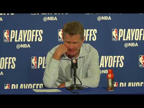 Steve Kerr Postgame Press Conference | Spurs vs Warriors | NBA Playoffs 2018 Game 1