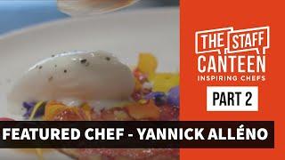 3 Michelin star chef Yannick Alléno creates a dish of morels & smoked scamorza & a strawberry tart