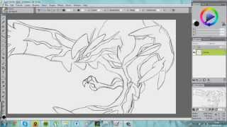 Drawing Yveltal from Pokemon Y