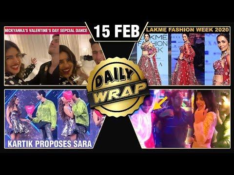 Priyanka Nick Valentine's DANCE, Kartik Proposes Sara, Lakme Fashion Week 2020 | Top 10 News
