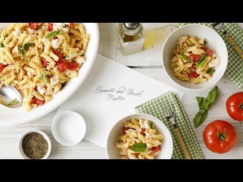 Tomato with Basil Pasta - Martha Stewart