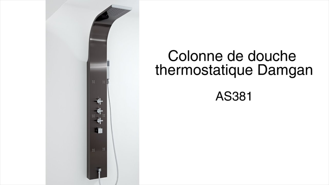 colonne de douche thermostatique damgan youtube. Black Bedroom Furniture Sets. Home Design Ideas