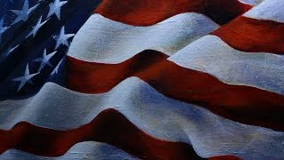 Art Videos: Painting the American Flag (Song This Land is Your Land, Counting Crows)