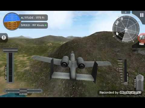 avion flight simulator a 10 thunderbolt ii unexpected landing