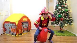 消防士さんのお仕事! ホットドッグ屋さんを消火! おゆうぎ  こうくんねみちゃん