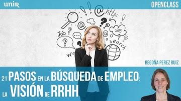 21 pasos en la búsqueda de empleo: la visión de RRHH | UNIR OPENCLASS