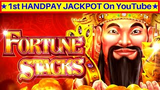 First ✦BIG HANDPAY JACKPOT✦ On YouTube For High Limit Fortune Stacks Slot Machine | High Limit Slot