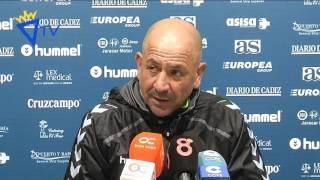 Claudio Barragán en previa Villanovense-Cádiz (12-02-16)