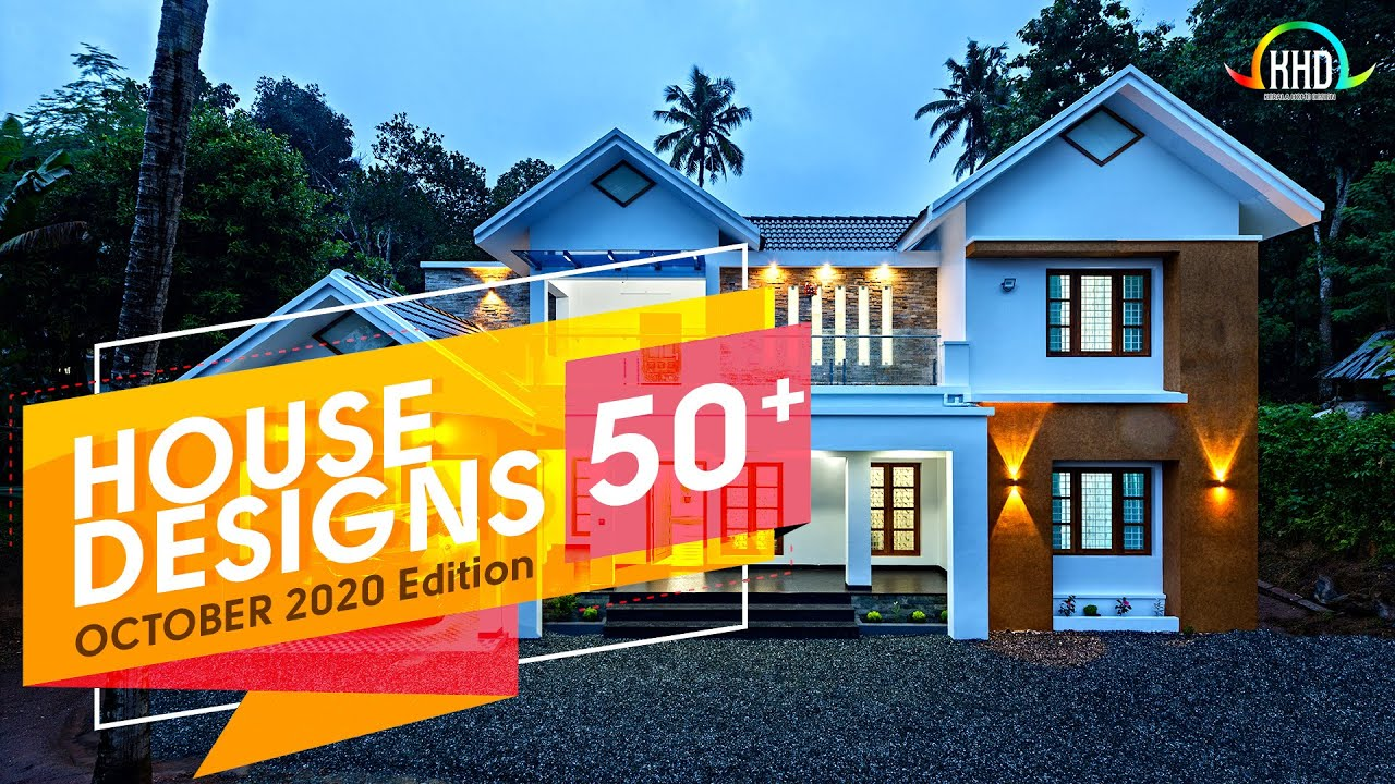 October 2020 House Design Compilation Kerala Home Design Youtube