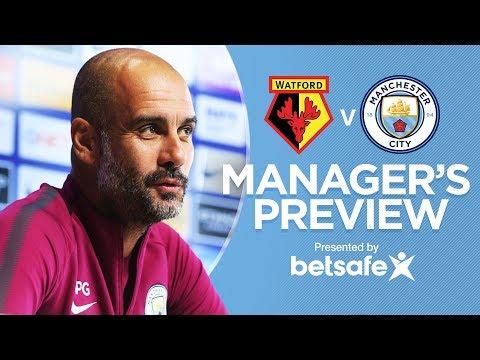 KOMPANY BACK IN TRAINING | Watford v Man City | Pep Guardiola Press Conference