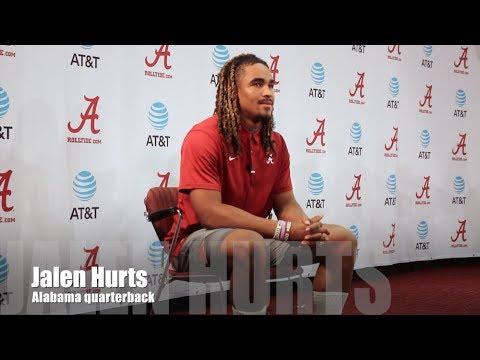 Alabama QB Jalen Hurts talks LSU game
