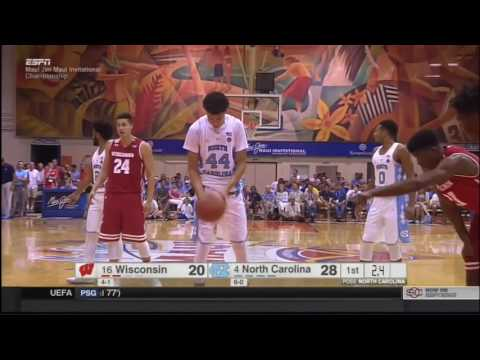 (NCAAM) #16 Wisconsin Badgers at #4 North Carolina Tar Heels in 30 Minutes - 11/23/16