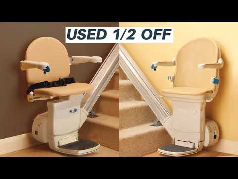 Orange Discount Electric Stair Lifts home in indoor, outdoor and custom curved models.  Home residential straight rail lifts; outside exterior outdoor stairlift stairway staircase models; and custom curved chairlifts.