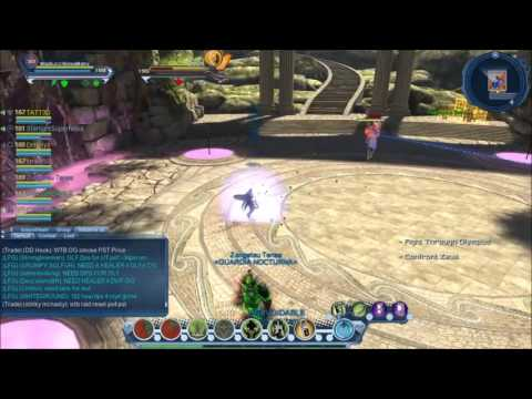 DCUO Amazon Fury Part 3 Olympus Elite Last Boss Tutorial Nature Heal POV
