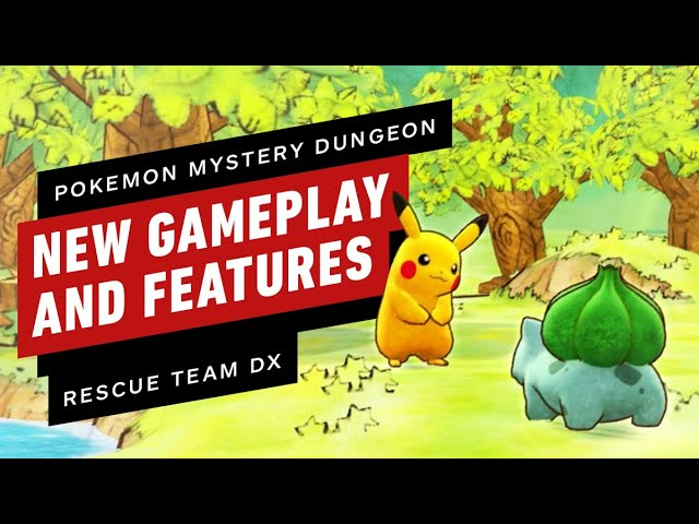 Pokemon Mystery Dungeon: Rescue Team DX - Neues Gameplay und neue Funktionen erklärt + video