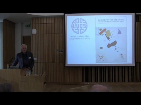 Peter Gärdenfors - The Geometry of Meaning (2nd ESSENCE Summer School)