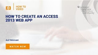 Creating an Access 2013 Web App by Asif Rehmani