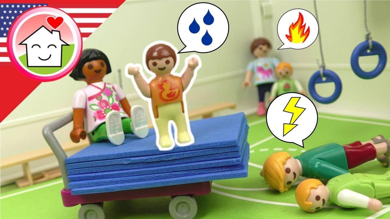Playmobil English Kiddy Gymnastics with Anna at Nursery School - The Hauser Family