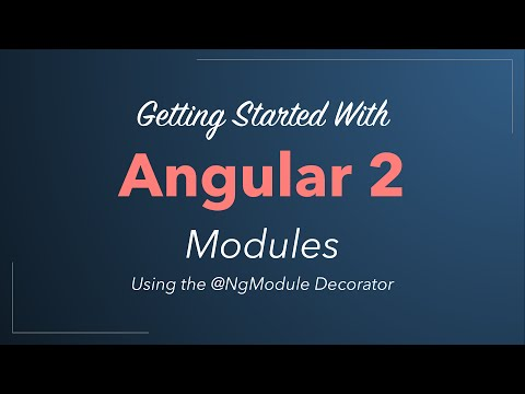 Angular 2 Modules (NgModule) - Quickstart Tutorial
