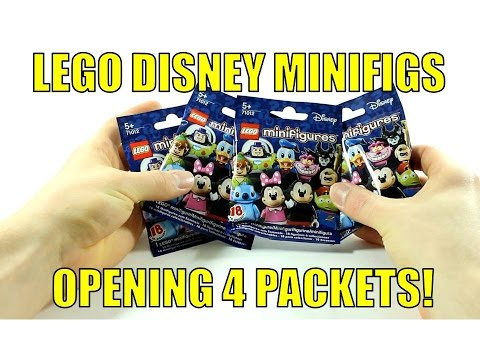 LEGO DISNEY SERIES 71012 MINIFIGURES OPENING 4 PACKETS!