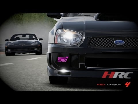 Forza Motorsport 4-WFO's '09 Rear Gear/Radial C6 ZR1 vs HRC's '04 35R STi WRX