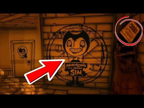 HACKING CHAPTER 3 SECRET CUTOUT, NEW TAPE, PROJECTIONIST DOOR! | Bendy And The Ink Machine Chapter 3