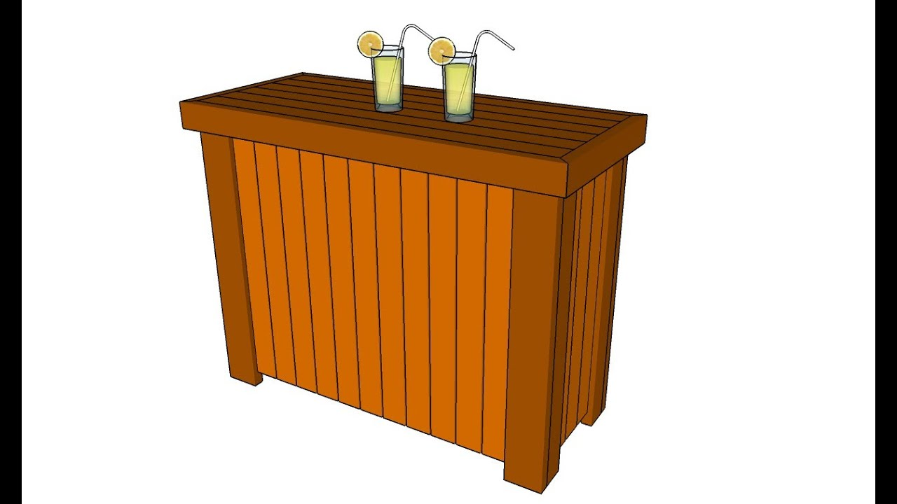Charming Outdoor Bar Plans   YouTube