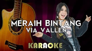 Meraih Bintang - Via VAllen | HIGHER Key Acoustic Guitar Karaoke Version Instrumental Lyrics Cover