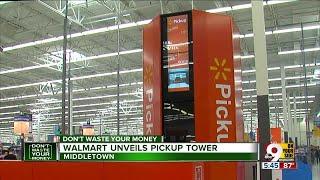 Walmart unveils pickup tower