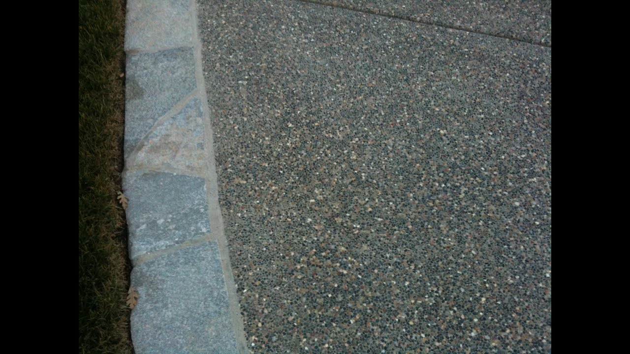 How To Build An Exposed Aggregate Patio   YouTube
