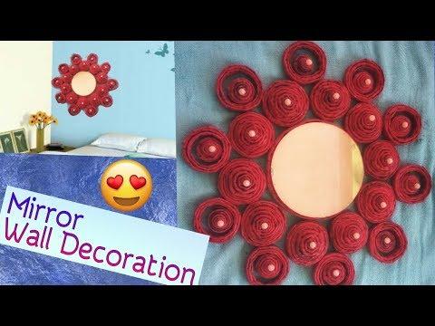 DIY Wall Decoration||Newspaper Wall Hanging Making|| Mirror Decoration|Newspaper craft|ArtHolic KM