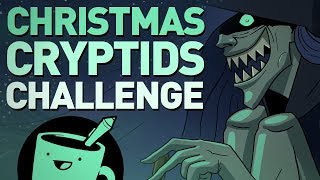 Christmas Cryptids Drawing Challenge