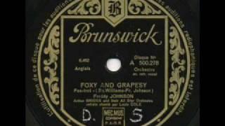 Freddy Johnson &  Arthur Briggs, Foxy and Grapesy. Paris 1933