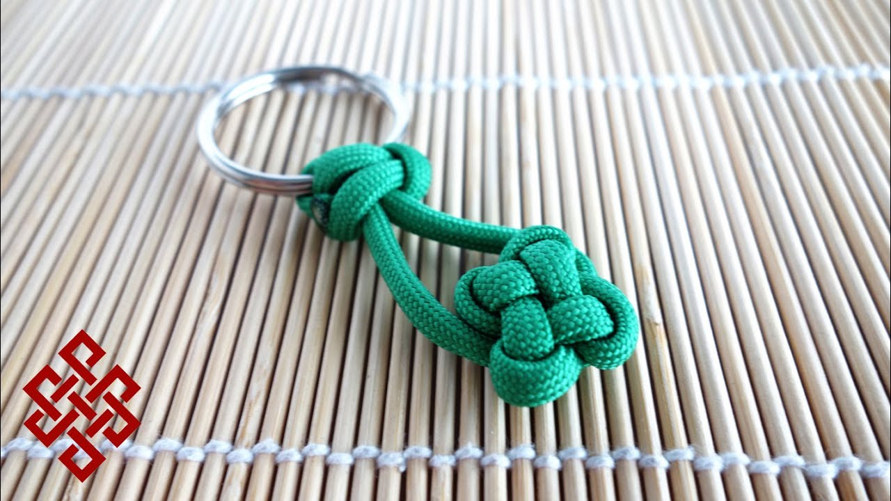 How to make a clover knot paracord key chain tutorial for How to make a keychain out of paracord
