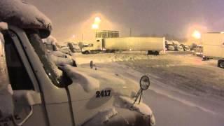 537 truckers worst nightmare a blizzard.