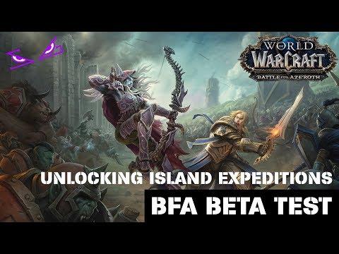 Uncharted Island Scenario - Unlocking Island Expeditions (WoW BfA Beta)